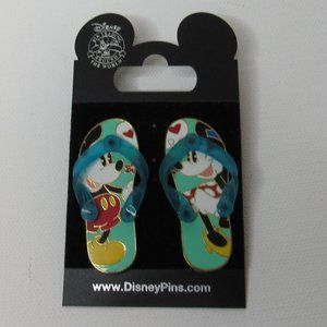Mickey & Minnie Mouse Sandals Disney Pins 2007
